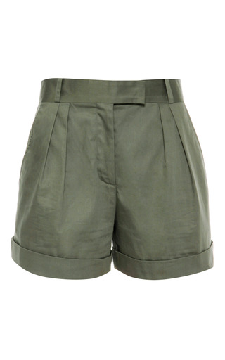 Medium vilshenko green rebecca cotton raso shorts