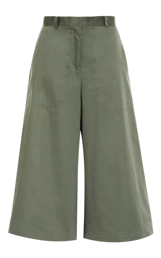 Medium vilshenko green tara raso cotton short culottes 2