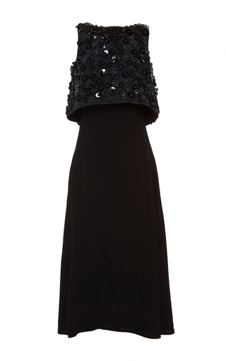 Medium holly fulton multi printed bodice layer evening dress