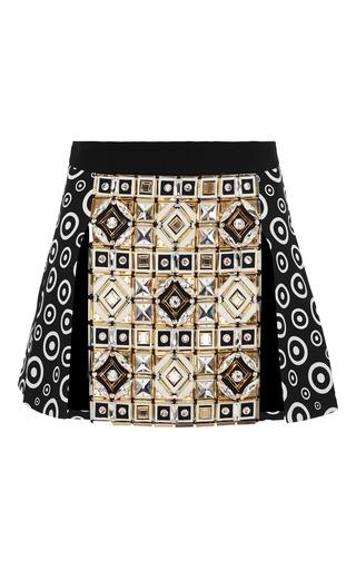 Medium fausto puglisi multi embellished multi panel mini skirt