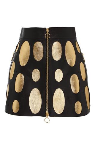 Medium fausto puglisi multi black and gold cutout mini skirt
