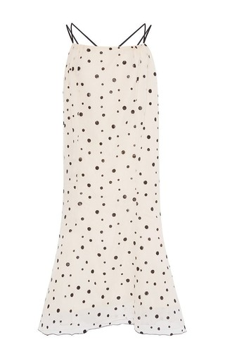 Medium vika gazinskaya print polka dot chiffon dress with flounce hem 2