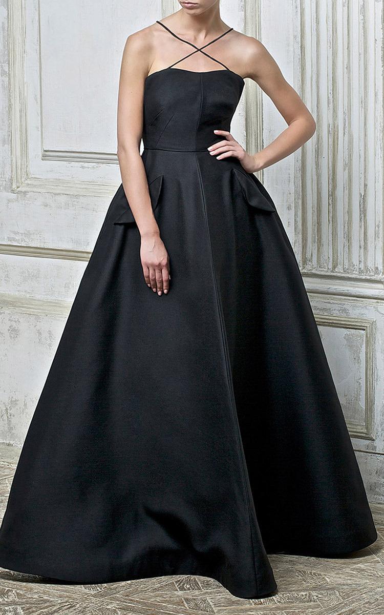 Decolette Evening Gown With Underskirt By Vika Moda Operandi