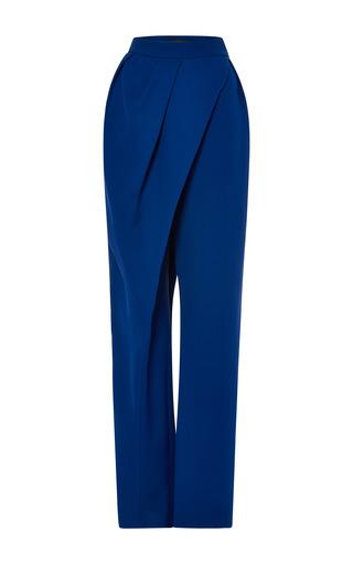 Medium vika gazinskaya blue high waist wrap pant