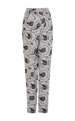 Medium vika gazinskaya print paisley soft jacquard wrap pant