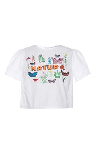 Medium vivetta white garden oli blouse