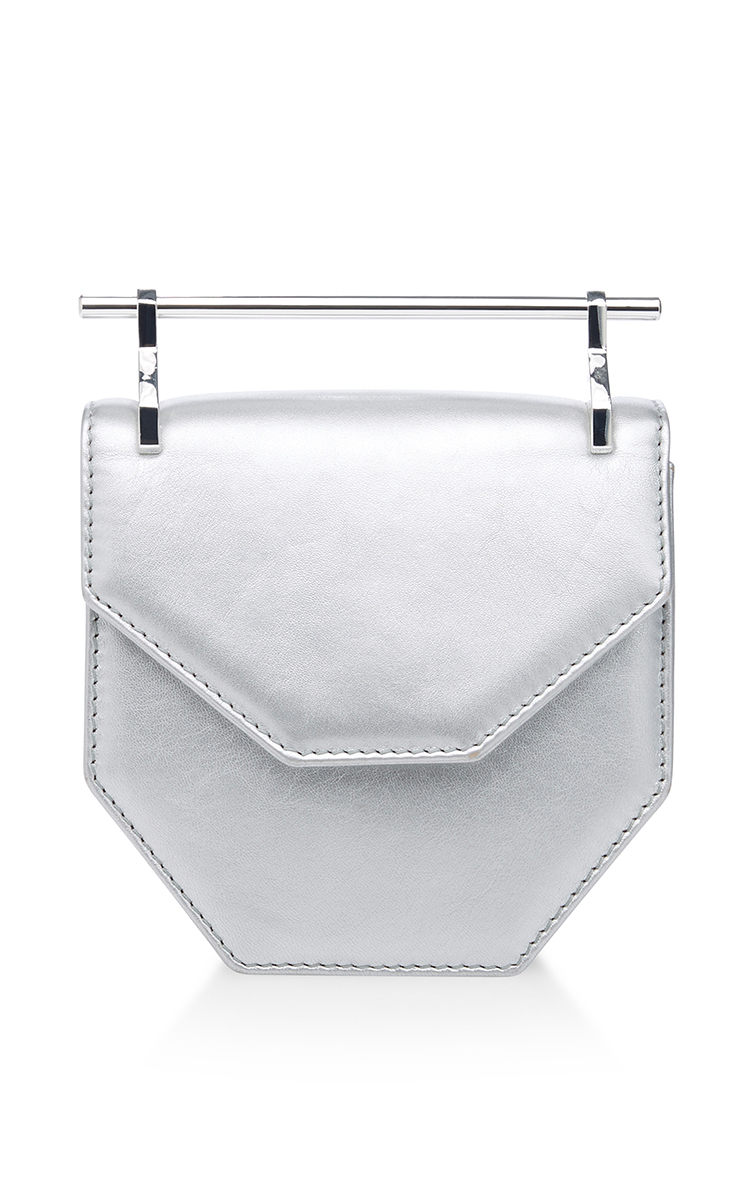 cf977fda6daa M2MalletierMini Amor Fati Leather Bag in Silver. CLOSE. Loading