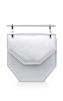Mini Amor Fati Leather Bag In Silver by M2MALLETIER Now Available on Moda Operandi