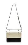 La Fleur Du Mal Leather Bag In Black And Ivory by M2MALLETIER Now Available on Moda Operandi