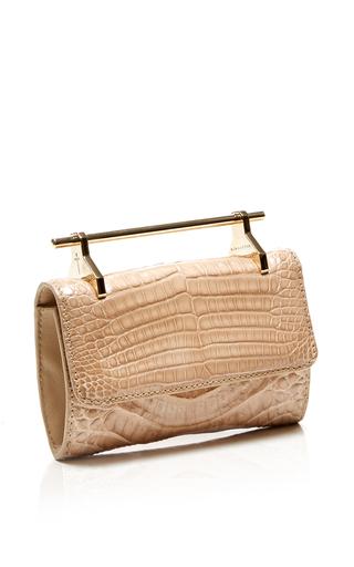 Mini Fabricca In Sand Crocodile by M2MALLETIER Now Available on Moda Operandi
