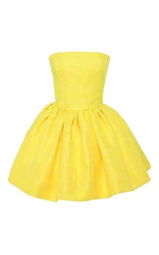 Medium martin grant yellow bustier dress with gathered skirt 2