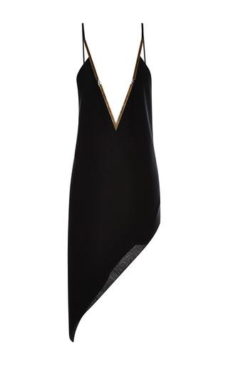 Medium anthony vaccarello black metal detail asymmetrical dress