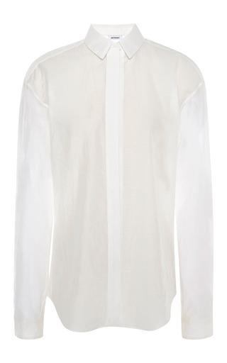 Medium anthony vaccarello white white classic shirt