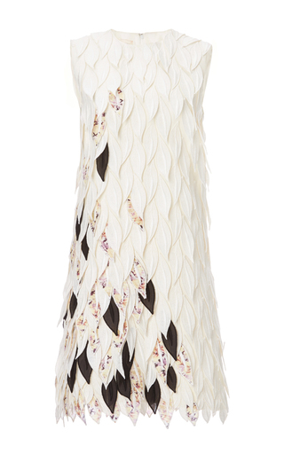 Medium giambattista valli white abito cfoglie