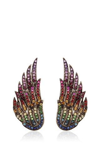 Medium as29 multi studs wings earrings