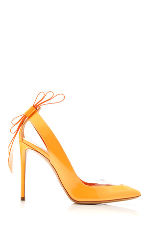 Medium nicholas kirkwood orange origami bow pump in orange