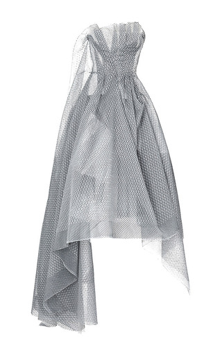 Medium maticevski dark grey linear gown