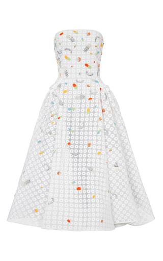 Medium maticevski white symphonic gown beaded
