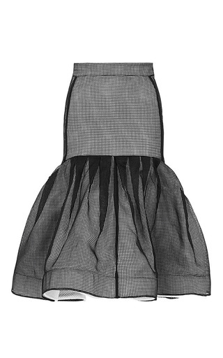 Medium maticevski black innovative flute skirt