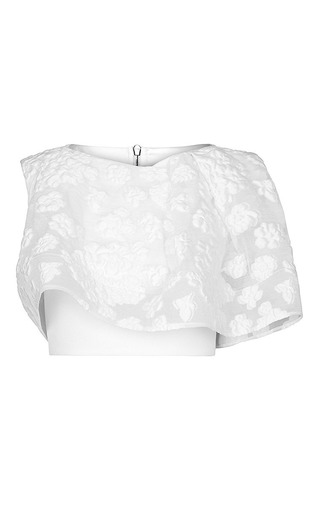Medium maticevski white halo cropped blouse