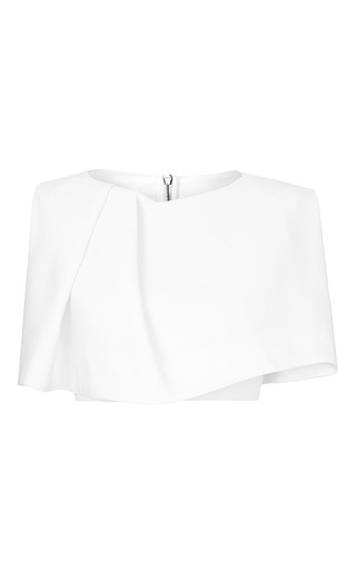 Medium maticevski white inspire cropped blouse