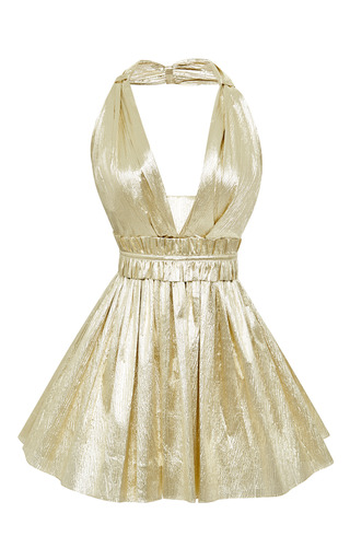Medium kalmanovich gold gold halter dress