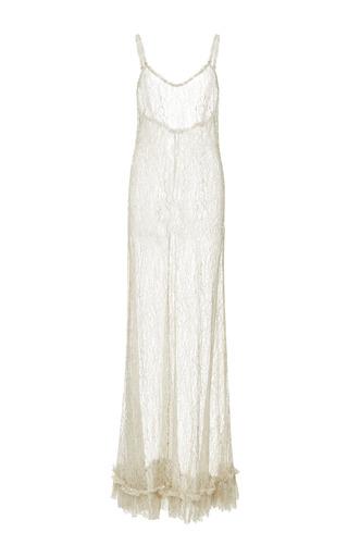 Medium kalmanovich brown sheer floor length dress