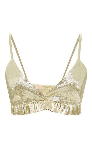 Medium kalmanovich gold gold bra top
