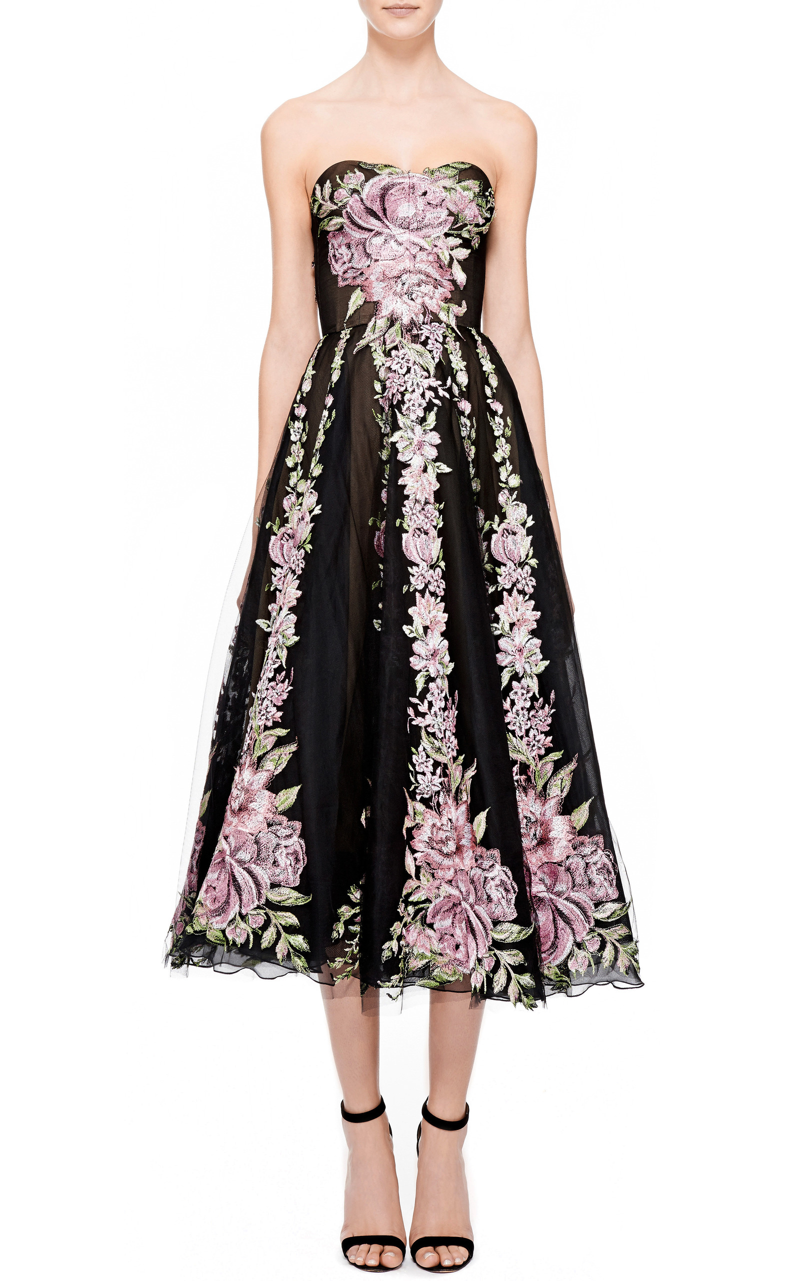 Floral Tulle Cocktail Dress by Marchesa | Moda Operandi