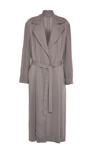 Medium barbara casasola dark grey grey belted coat