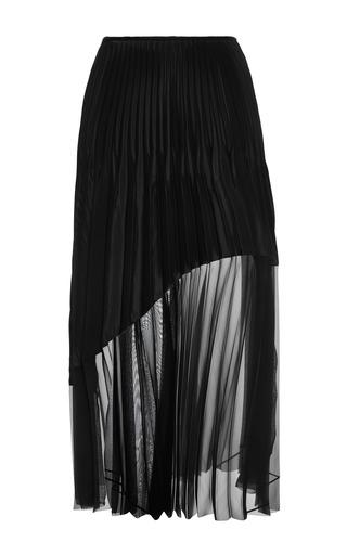 Medium barbara casasola black black pleated skirt with pleating