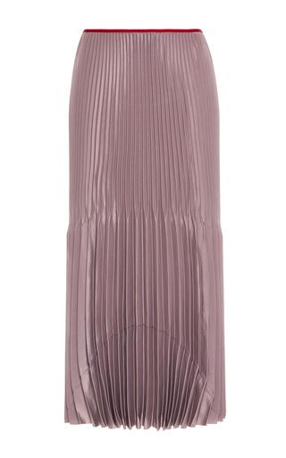 Medium barbara casasola dark grey pleated grey skirt