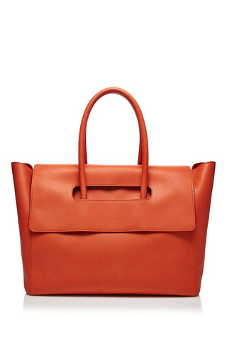 Medium maison ullens red nomad tote in poppy red