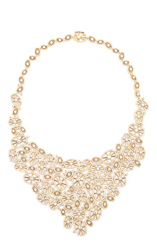 Medium octium gold one of a kind 18k rose gold couture lace dimaond necklace 2