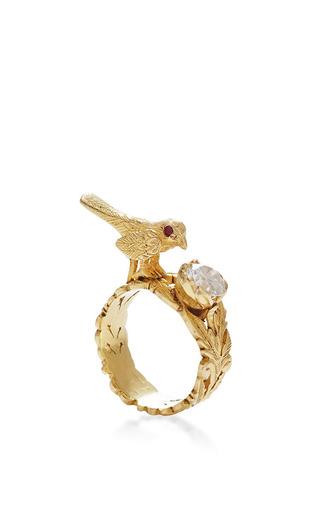 Medium jade jagger white bird ring with diamond