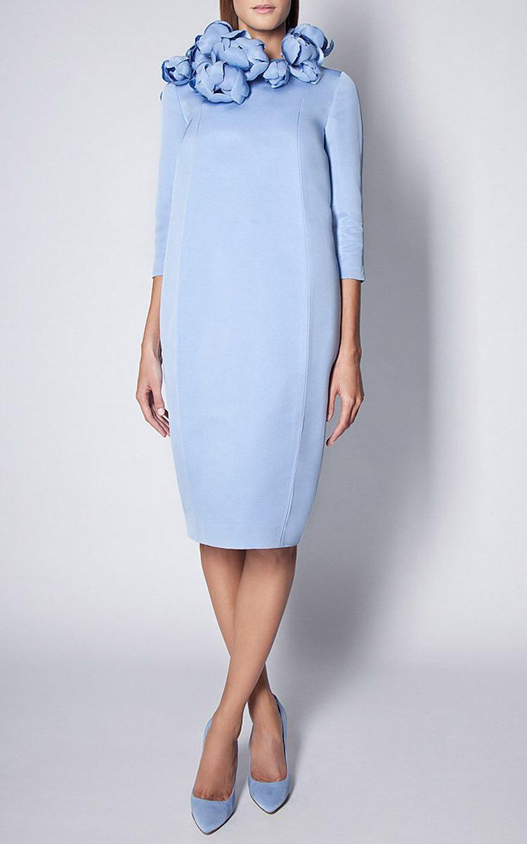 9e47df76ce1d Esme VieSky Blue Faille Magnolia Midi Dress. CLOSE. Loading. Loading.  Loading