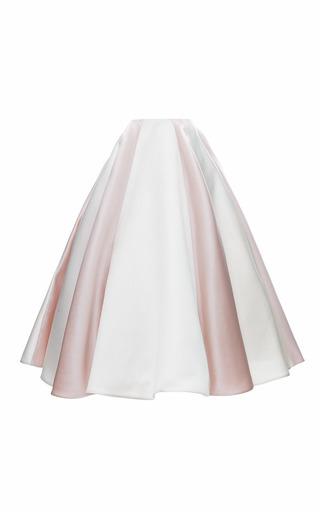 Medium esme vie multi gardenia white and rose pink stripe soleil maxi skirt