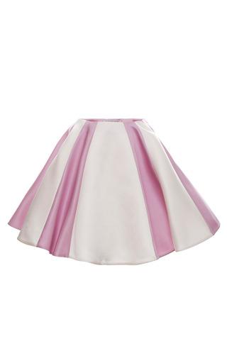 Medium esme vie multi gardenia white and lavender pink stripe soleil mini skirt