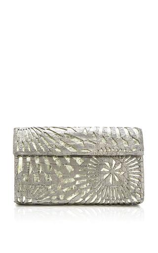 Medium nancy gonzalez silver gun metal and silver clutch