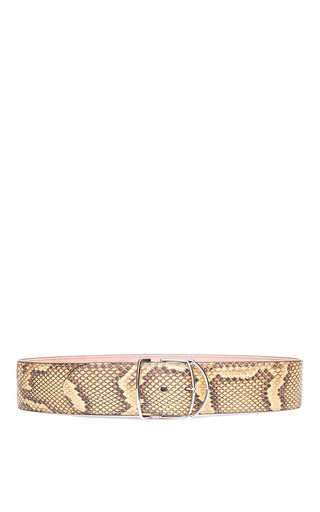 Medium bally brown light cuoio python belt