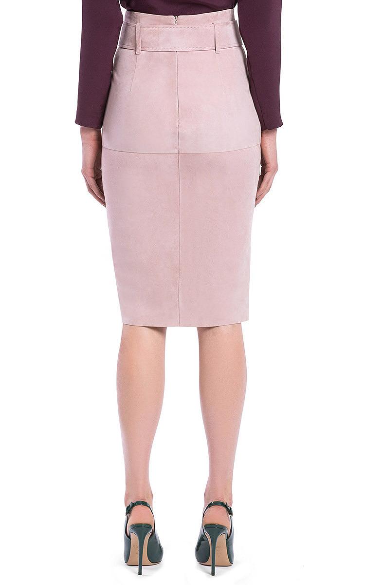 Dusty Pink Suede Pencil Skirt by Bally | Moda Operandi