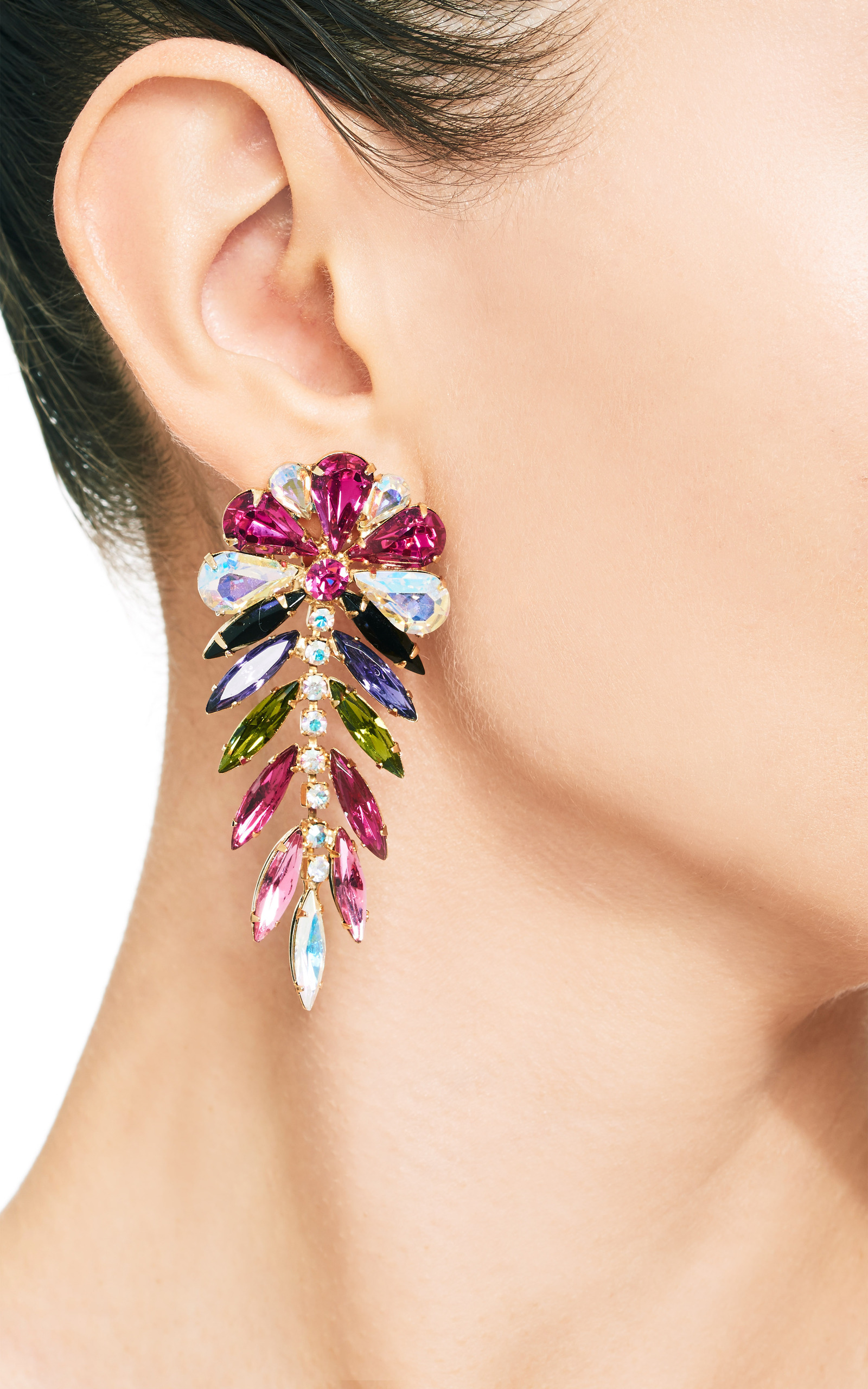 high colored multi fashion trendy earrings quality women statement