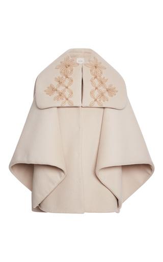 Medium delpozo white cape coat with sailor neck 2