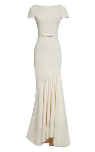 Medium katie ermilio white scoop back tailor bow gown 2