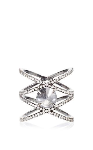 Medium eva fehren black the xx ring with inverted grey diamond