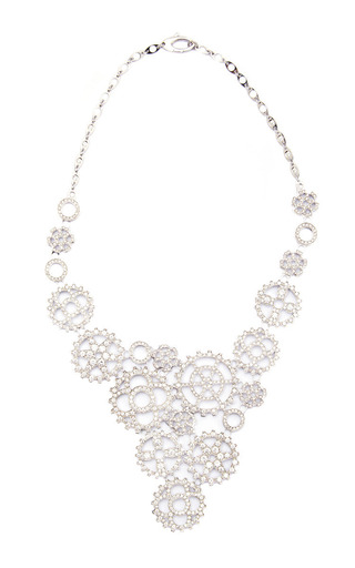 Medium wilfredo rosado silver 18k white gold multi cog necklace