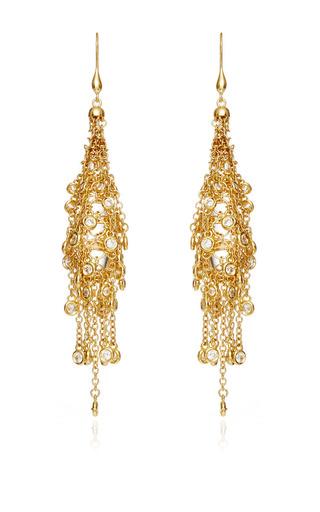 Medium wilfredo rosado gold 18k yellow gold fringe earrings