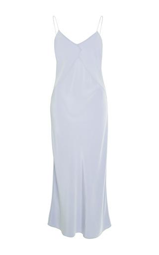 Medium cade blue cade light blue silk dress