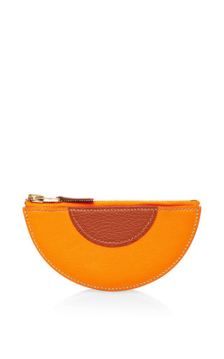 Medium what goes around comes around multi hermes orange wedge fruit coin purse