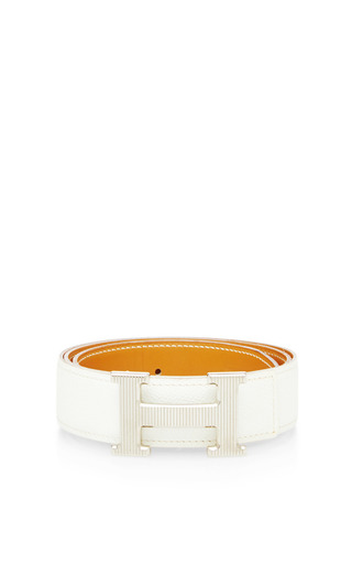 Medium what goes around comes around white hermes white leather constance belt